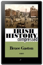 The Irish History Compressed ebook displayed on a tablet